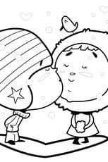 Coloriage Petits Amoureux en Ligne Gratuit à imprimer