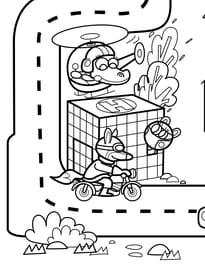 Coloriage géant du jeu de la route numéro5