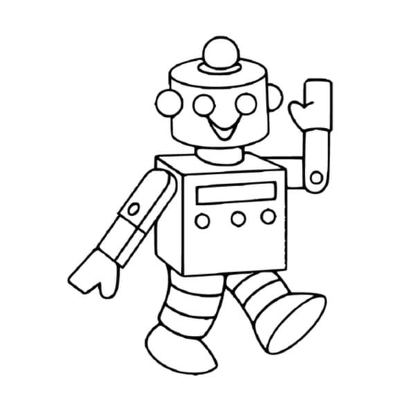 Coloriage Robot en Ligne Gratuit à imprimer