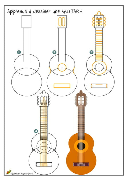 dessiner une guitare. Black Bedroom Furniture Sets. Home Design Ideas