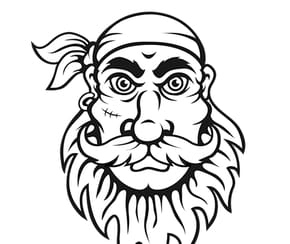 Tête de Pirate avec cicatrice
