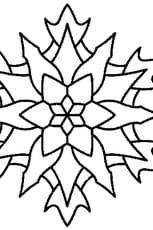 Coloriage Mandala Edelweis en Ligne Gratuit à imprimer