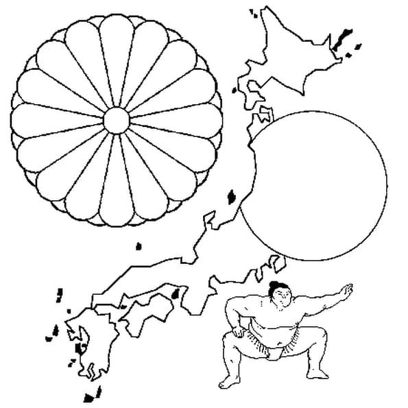 Coloriage Japon en Ligne Gratuit à imprimer