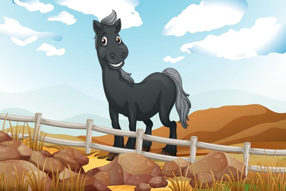 Comptine Sur son petit cheval gris