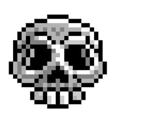Pixel art Halloween tête de mort