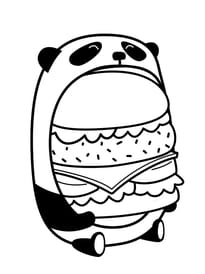 Le burger du panda en mode kawaii