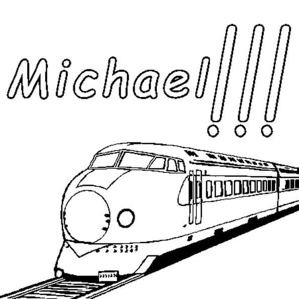 Dessin Michael a colorier