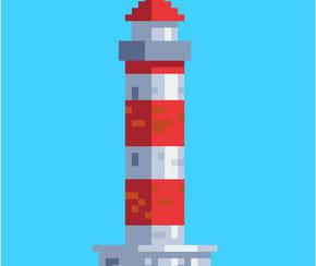 Phare en pixel art