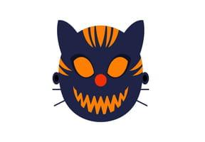 Masque de chat maléfique pour Halloween