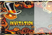 Carte invitation Halloween citrouilles diverses