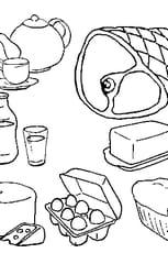 Coloriage Nourriture En Ligne Gratuit A Imprimer