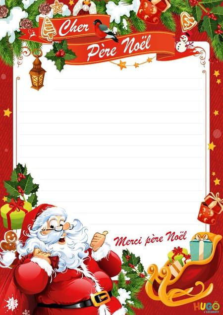Liste au pere Noël à imprimer gratuitement