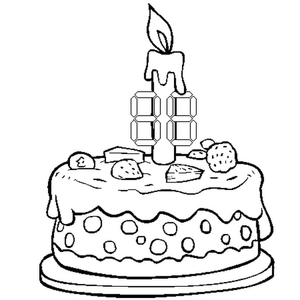 30 ans coloriage 30 ans en ligne gratuit a imprimer sur - Gateau d anniversaire a colorier ...