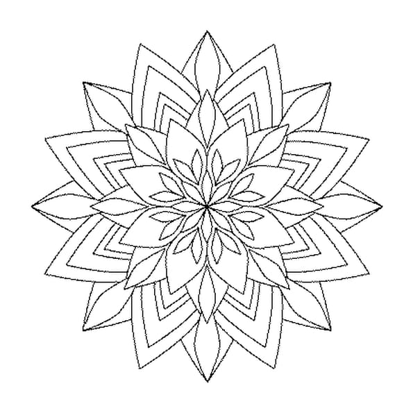 Coloriage Mandala Bouquet en Ligne Gratuit à imprimer