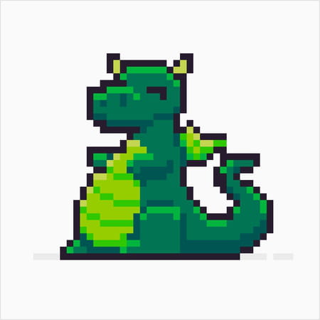 Pixel Art Dragon Facile