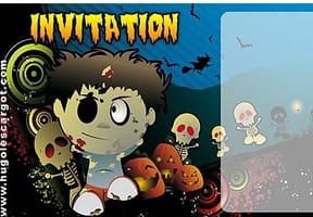 Carte invitation Halloween zombie rigolo