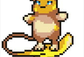 Pokémon Raichu d'Alola en pixel art