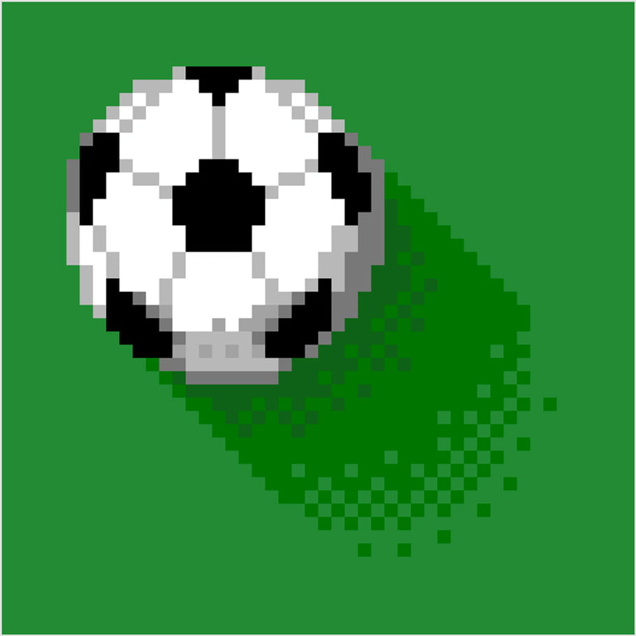 Ballon De Football En Pixel Art