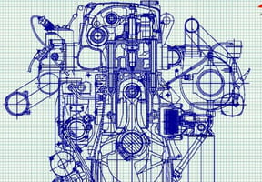 Dessiner un moteur de voiture