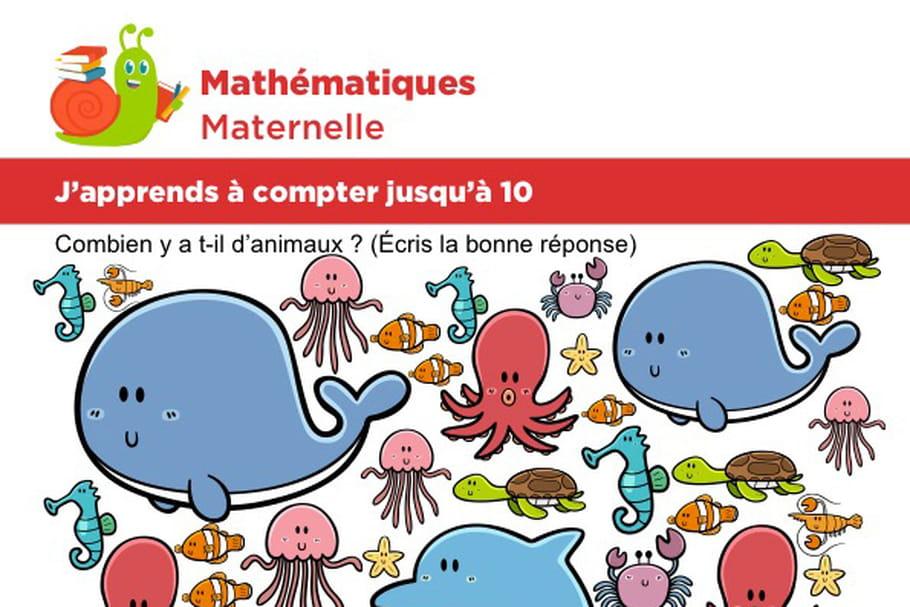 Mathématiques fiche 6, j'apprends à compter jusqu'à 10