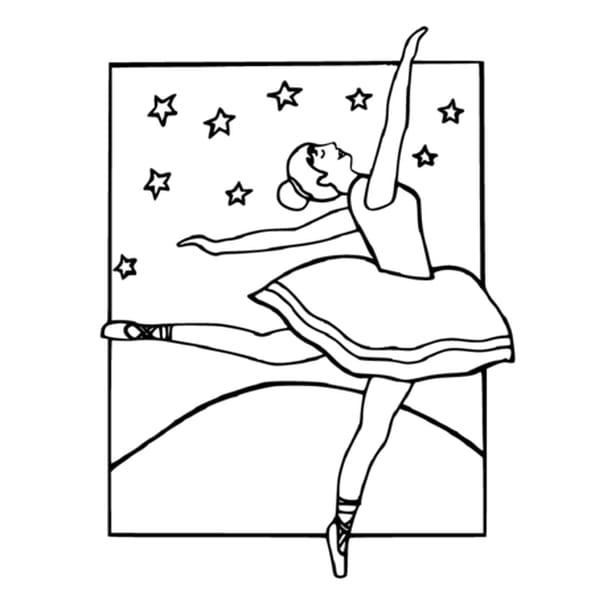 Dessin Danse Classique a colorier