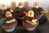 Recette des cupcakes pierre tombale Halloween [VIDEO]