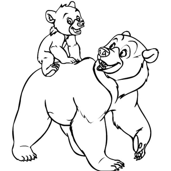 Dessin frère des ours a colorier