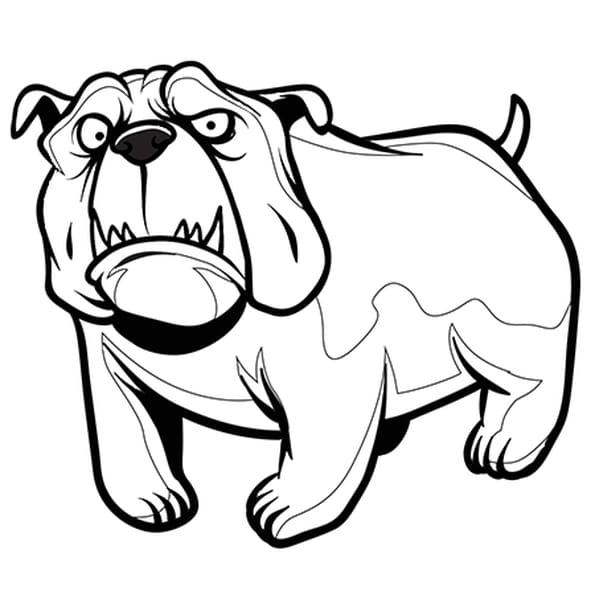 coloriage chien bouledogue en ligne gratuit imprimer - Coloriage Chien