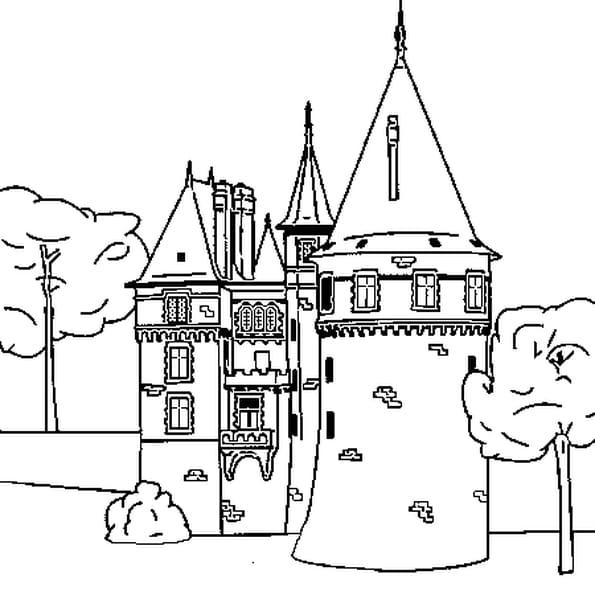 Dessin château a colorier