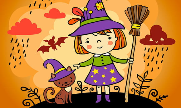 Coloriage Samain et Halloween