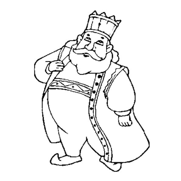 Dessin Roi Dagobert a colorier