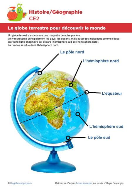 Le globe terrestre pour d couvrir le monde - Globe terrestre pour enfant ...
