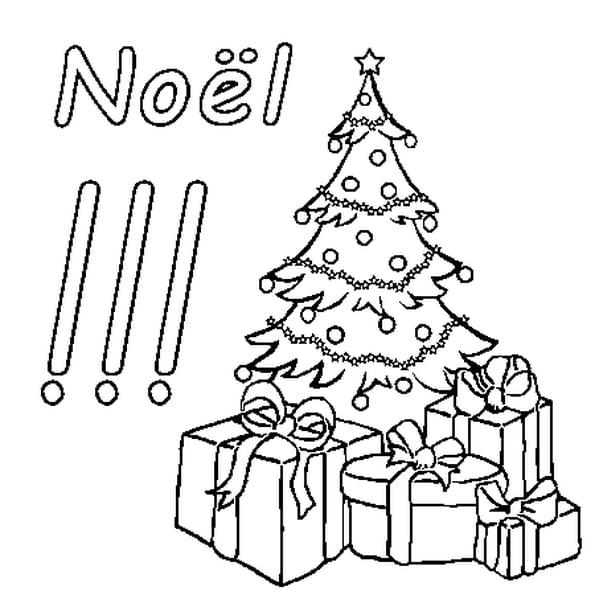 Dessin Noël a colorier