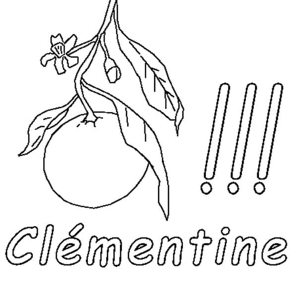 Dessin Clémentine a colorier