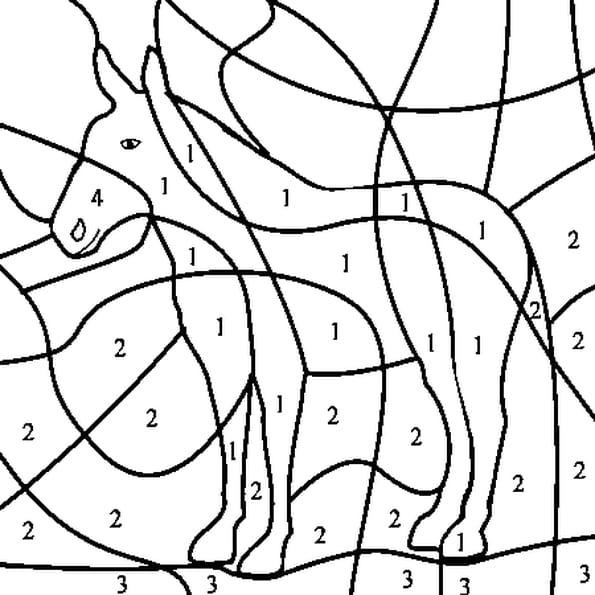 Coloriage Magique Cheval Cp.Coloriage Magique Animaux De La Ferme En Ligne Gratuit A Imprimer