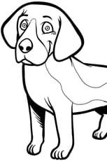 Coloriage Chien Beagle en Ligne Gratuit à imprimer