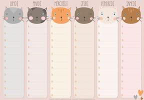 Emploi du temps chat