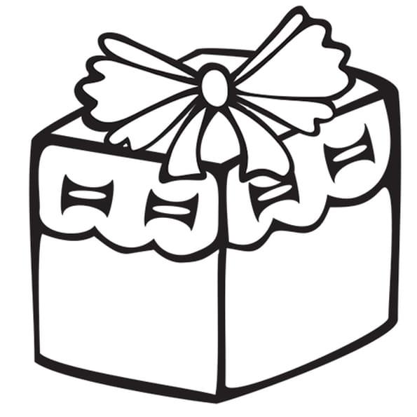 Coloriage petit cadeau rose en ligne gratuit imprimer - Dessin cadeaux de noel ...