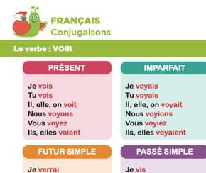 Conjugaison du verbe voir