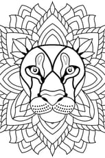 Coloriage Mandala lion