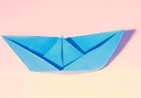 Bateau en papier: origami et pliage d'un bateau