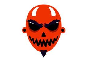 Masque de Diablotin pour Halloween