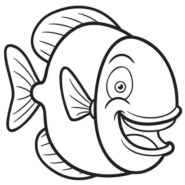 Coloriage poisson rond en ligne gratuit imprimer - Dessin poisson d avril rigolo ...