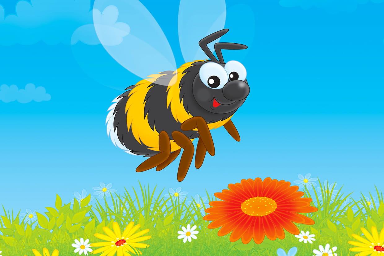 coloriage abeille sur hugolescargot com
