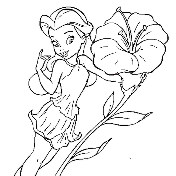 fleur coloriage