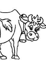 Coloriage vache qui rit en Ligne Gratuit à imprimer