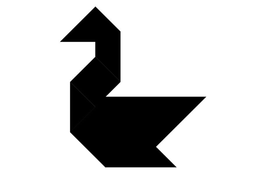 Le tangram niveau difficile, un canard