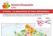 La France, les départements de France métropolitaine