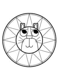 Mandala lion, pour les petits