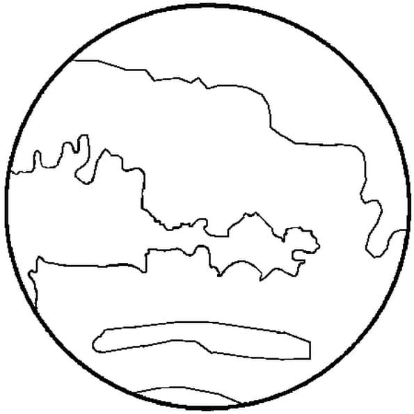 Coloriage Planète-Mars en Ligne Gratuit à imprimer